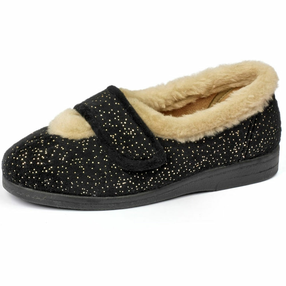 Selina Ladies Slipper and ladie's wider slippers