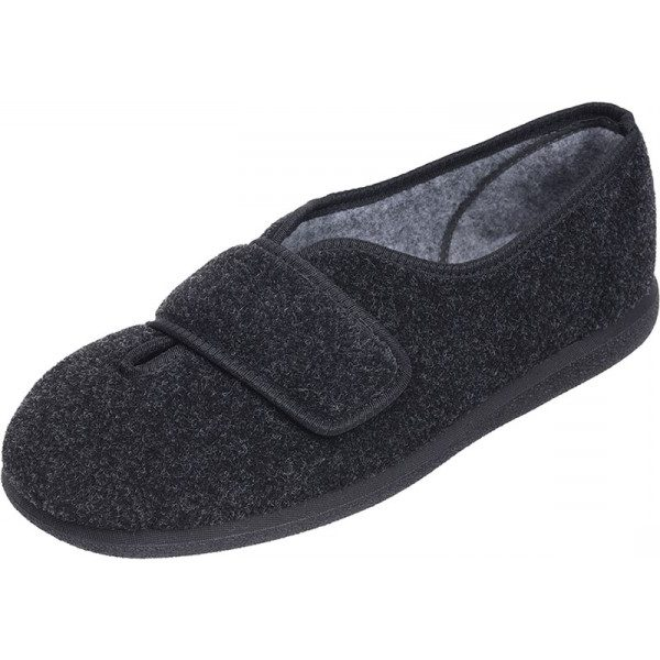 Ronnie Roomy Slipper and wider fitting slippers