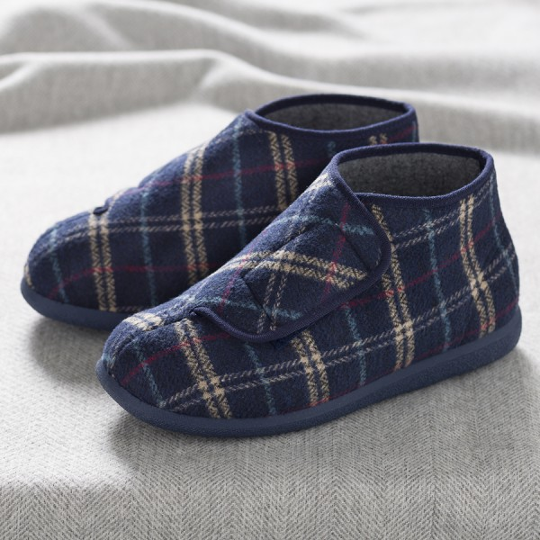 Robbie Roomy Slipper and men's wider fitting slippers