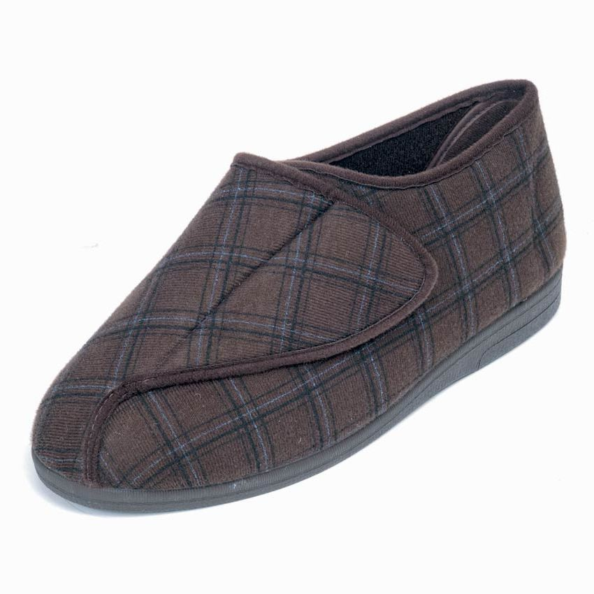 Gary Roomy Slipper and men's wider fitting slippers