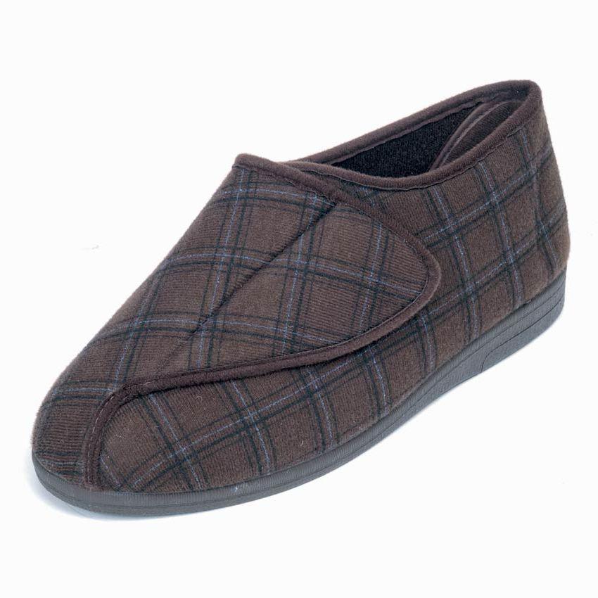 Gary Roomy Slipper and men's wider fitting slippers