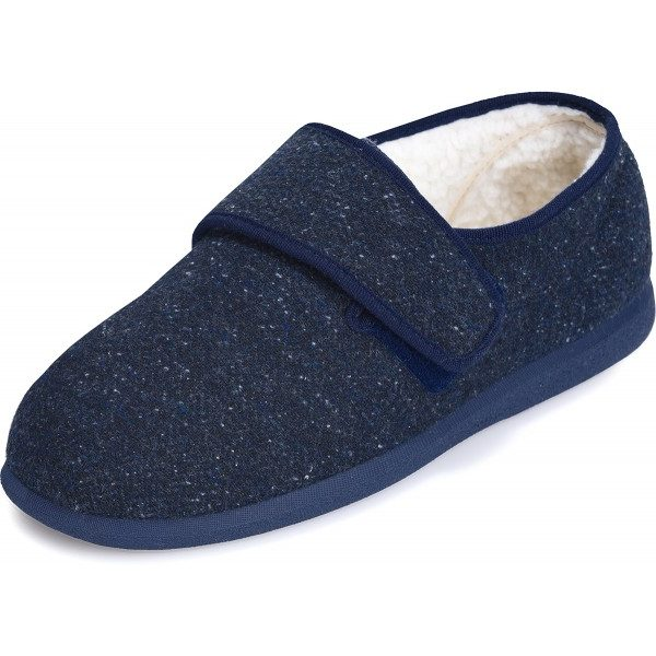Rudolph Extra Roomy Men's Slipper and men's wider fitting slippers