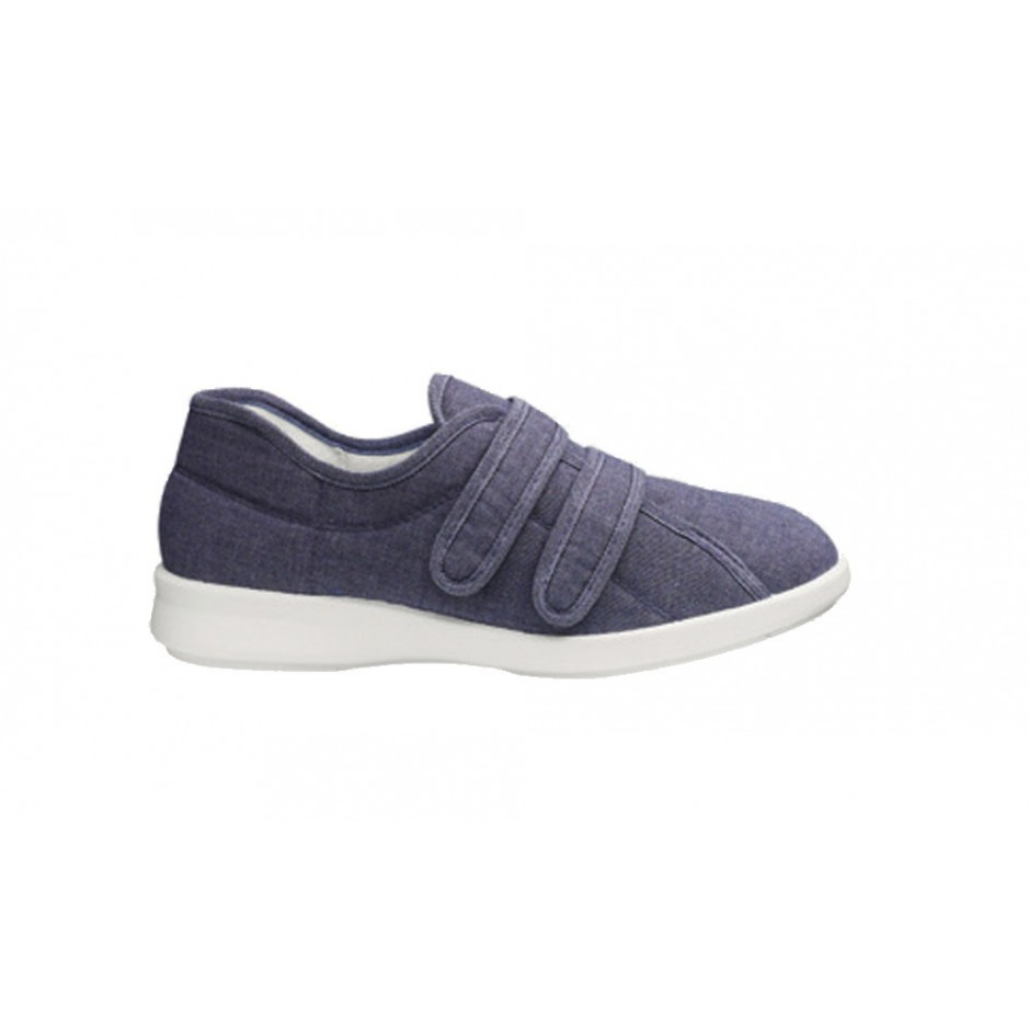 Celene ladies roomy canvas shoe and other wide fitting shoes, sandals and slippers